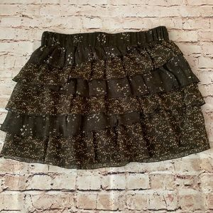 Old navy brown ruffle skirt